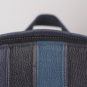 COACH Bags - COACH #17463 Navy Blue Leather Backpack
